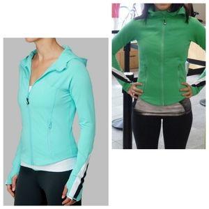 Lululemon Half Moon Zip Up Jacket with Hood Green Size 12